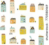 cute hand drawn pattern with... | Shutterstock .eps vector #770580469