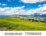 meadow and mountains | Shutterstock . vector #770582620
