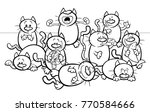 black and white coloring book... | Shutterstock .eps vector #770584666