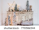 christmas decoration on ancient ... | Shutterstock . vector #770586544