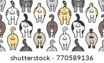 cat breed kitten butt of cat... | Shutterstock .eps vector #770589136