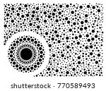 black and white dotted... | Shutterstock .eps vector #770589493