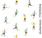 football soccer players... | Shutterstock .eps vector #770590246