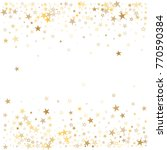 sparkling gold stars background ... | Shutterstock .eps vector #770590384