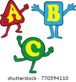 abc cartoon shape characters ... | Shutterstock .eps vector #770594110