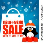 new year sale background with... | Shutterstock .eps vector #770596534