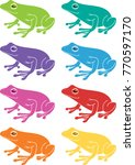frog clip art set  vector...