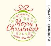 merry christmas   beautiful... | Shutterstock .eps vector #770598244