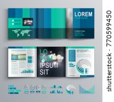 blue business brochure template ... | Shutterstock .eps vector #770599450