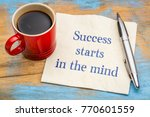 success starts in the mind  ... | Shutterstock . vector #770601559