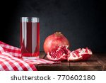pomegranate and pomegranate... | Shutterstock . vector #770602180