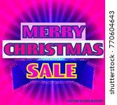 bright background merry... | Shutterstock .eps vector #770604643