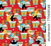 bright mexican folk seamless... | Shutterstock .eps vector #770608168