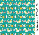 bright mexican folk seamless...   Shutterstock .eps vector #770608180