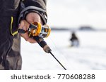fishing rod for winter fishing.   Shutterstock . vector #770608288