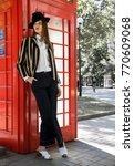 fashion photo  street style... | Shutterstock . vector #770609068