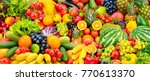 Assorted Fresh Ripe Fruits And...