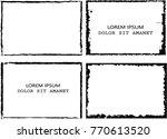 vector frames. rectangles for... | Shutterstock .eps vector #770613520