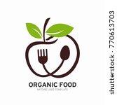 organic  vegetarian  healthy... | Shutterstock .eps vector #770613703