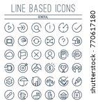 a full set of line based... | Shutterstock .eps vector #770617180