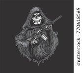 reaper with machinegun  grim...