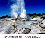 Gush Spring In Geotermal Area...