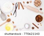 ingredients for christmas... | Shutterstock . vector #770621143