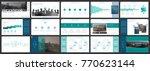 green  blue  elements of... | Shutterstock .eps vector #770623144