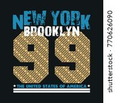 new york typography  t shirt ... | Shutterstock .eps vector #770626090