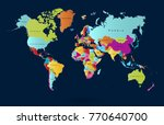 color world map vector | Shutterstock .eps vector #770640700
