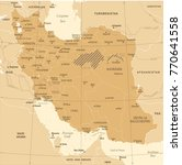 iran map   vintage high... | Shutterstock .eps vector #770641558