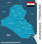 iraq map and flag   high... | Shutterstock .eps vector #770641564
