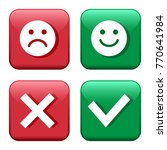 set red and green icons buttons.... | Shutterstock .eps vector #770641984
