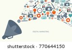 digital marketing concept. flat ... | Shutterstock .eps vector #770644150