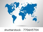 blue world map vector | Shutterstock .eps vector #770645704