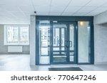 empty hall window and doors at... | Shutterstock . vector #770647246