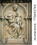 female religious statue siena | Shutterstock . vector #770652763
