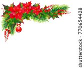 christmas garland with... | Shutterstock .eps vector #770654428