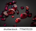 jewel or gemstone on black... | Shutterstock . vector #770655223