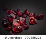 jewel or gemstone on black... | Shutterstock . vector #770655226