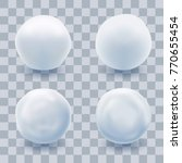 snowball set isolated with... | Shutterstock .eps vector #770655454