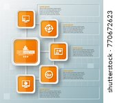 vector abstract 3d paper... | Shutterstock .eps vector #770672623