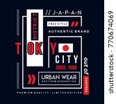 tokyo typography design tee ... | Shutterstock .eps vector #770674069