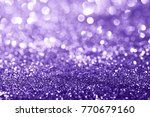ultra violet glitter bokeh... | Shutterstock . vector #770679160