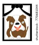 the dog's deceased.  | Shutterstock .eps vector #770681044