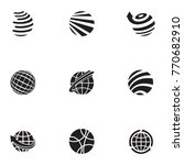 abstract web icons and globe... | Shutterstock .eps vector #770682910