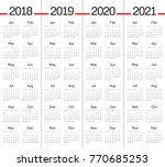 year 2018 2019 2020 2021... | Shutterstock .eps vector #770685253