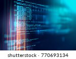 programming code abstract... | Shutterstock . vector #770693134
