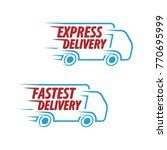 express delivery  fastest... | Shutterstock .eps vector #770695999
