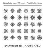 snowflake line icon editable... | Shutterstock .eps vector #770697760